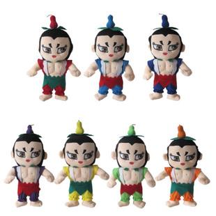 quanyi 金刚葫芦娃毛绒玩具 葫芦娃兄弟公仔 卡通儿童玩偶