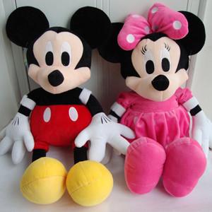 迪斯尼米奇米妮公仔 disney米老鼠压床布娃娃儿童玩具 毛绒礼物